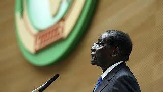 Afrika Birliği'nin yeni dönem başkanı Robert Mugabe