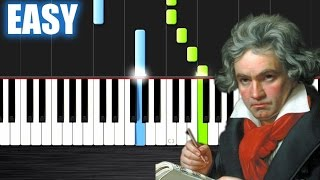 Beethoven - Ode To Joy - EASY Piano Tutorial