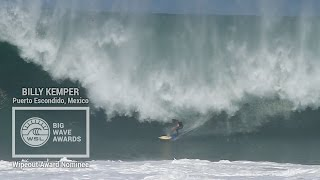 Billy Kemper (Haiku, Hawaii, USA) becomes one with the lip at Puerto Escondido, Mexico on July 5, 2014. Video by Daniel Nava.