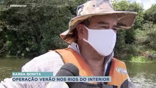 Marinha do Brasil fiscaliza embarcações no rio Tietê em Barra Bonita