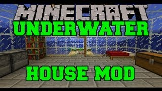 Minecraft Mod Showcase - Instant Underwater House - Mod Review