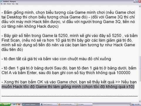 Hướng dẫn Hack Game bằng Cheat Engine 6.3