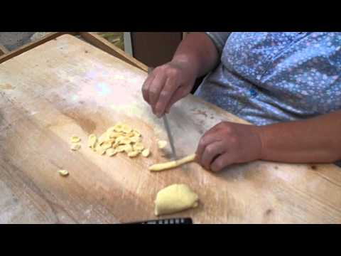 Making Pasta Shells by Hand Bari Italy