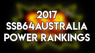 Australian Smash 64 2017 Rankings