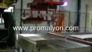 Palletisation automatique de paquets ficelés