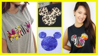 DIY A Mickey Mouse Inspired T-Shirt - An Anneorshine Disney Exclusive - YouTube