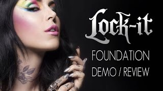 KAT VON D LOCK-IT  FOUNDATION DEMO/REVIEW IN 4K! by Wayne Goss