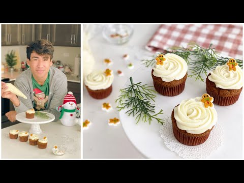 Gingerbread Cupcakes - How to Make Cream Cheese Frosting