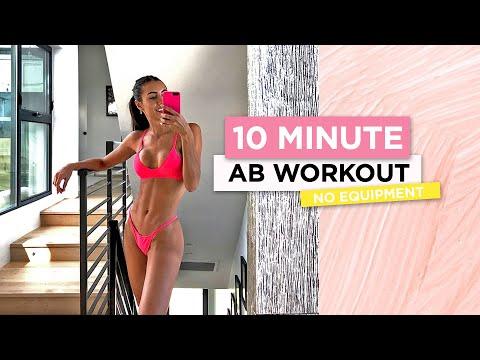 10 Minute Ab Workout // No Equipment   Sami Clarke