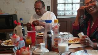 Michelle's Mothers and Father reaction to her mom mother day gift 2017.