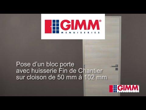Pose d'une porte intérieure avec huisserie fin de chantier - GIMM Menuiseries