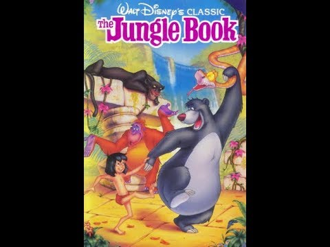 Closing to The Jungle Book 1991 VHS (Version #1) (Vertical Sticker Label Copy)