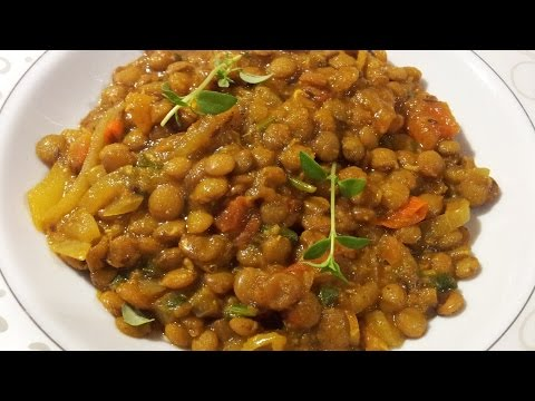 Spicy Green Lentil Curry