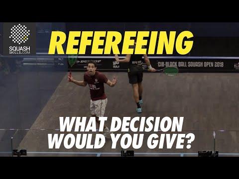 Squash Refereeing: Karim Abdel Gawad v Tarek Momen - Yes let