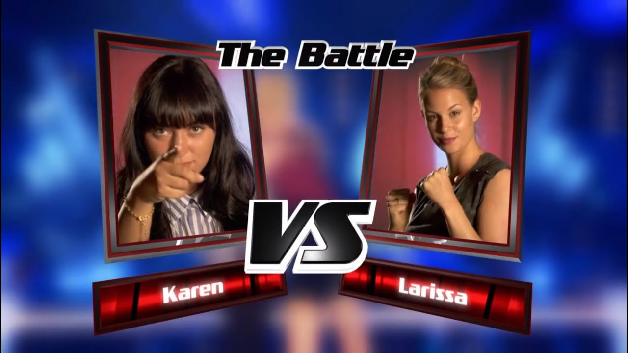 Karen vs. Larissa: La La La | The Voice of Germany 2013 | Battle