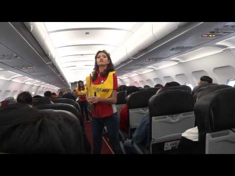 AirAsia awesome safety announcement @ AK1366