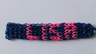 Rainbow Loom Nederlands, armband met eigen naam - YouTube
