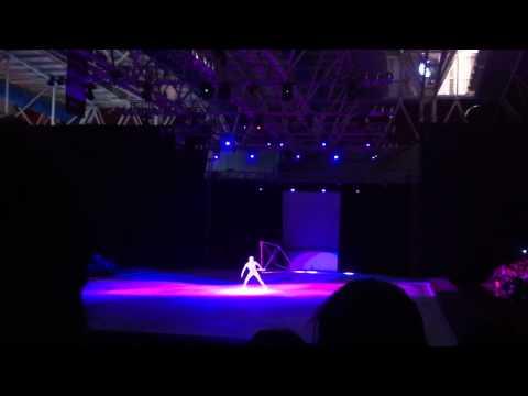 Show patinaje sobre hielo en la feria de Leon 2011