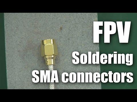 FPV: Soldering SMA connectors to RG402 coax