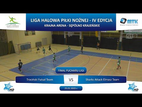 Finał Pucharu Ligi: Trociński Futsal Team - Sharks Attack Elmasz Team 6:3, 25.01.2015 r.