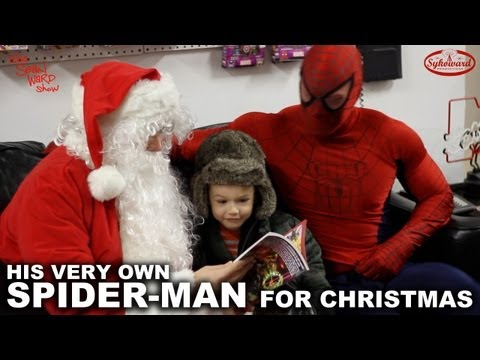 Watch A Three Year Old Get Spider Man For Christmas