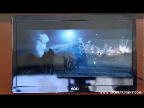 AOC E1649FWU USB Monitor Video Review (HD)