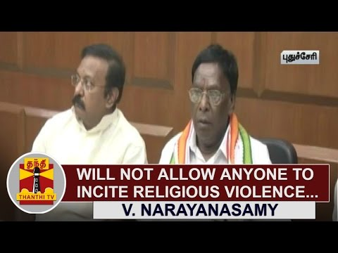 Will-not-allow-anyone-to-incite-Religious-Violence--V-Narayanasamy-Puducherry-Chief-Minister