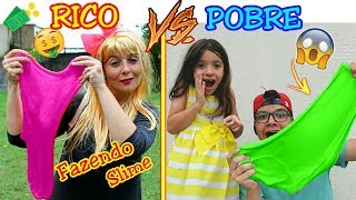 RICO VS POBRE FAZENDO AMOEBA / SLIME ( SLIME COM CHEIRINHO DE CHOCOLATE ) - ANNY E EU