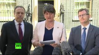 DUP's Arlene Foster gives statement after signing deal with Tories