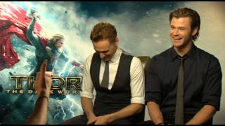 Chris Hemsworth and Tom Hiddleston Talk Natalie Portman's Punch! full download video download mp3 download music download