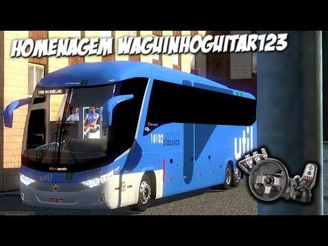 Euro Truck Simulator 2 - Marcopolo Paradiso G7 1200 - Homenagem WaguinhoGuitar123 - Com Logitech G27