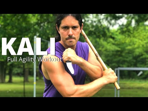 Full Agility Workout for Kali Escrima Arnis - Stick, Footwork, Knife