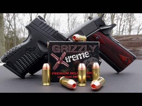 acp - Penetration and expansion test of the .45 ACP +P Grizzly Xtreme 175 grain copper hollowpoint. Firearms featured in the test are a Colt 1911 Series 80 Governm...