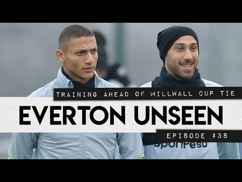 Video: EVERTON UNSEEN #38: TRAINING AHEAD OF MILLWALL CUP TIE!