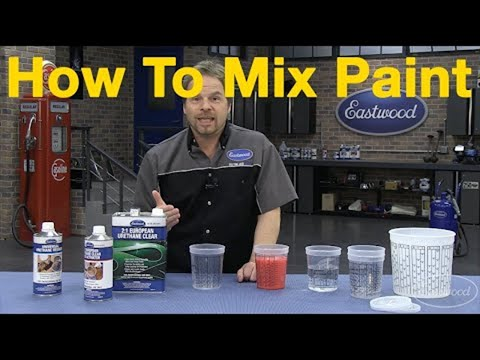 How To Mix Car Paint - Understanding Paint Mixing Ratios with Kevin Tetz at Eastwood