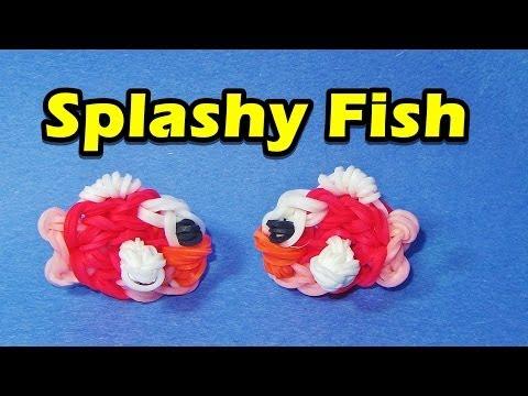Rainbow Loom FISH (Splashy Fish) Charm (Easy, Flappy Bird, Video Game)