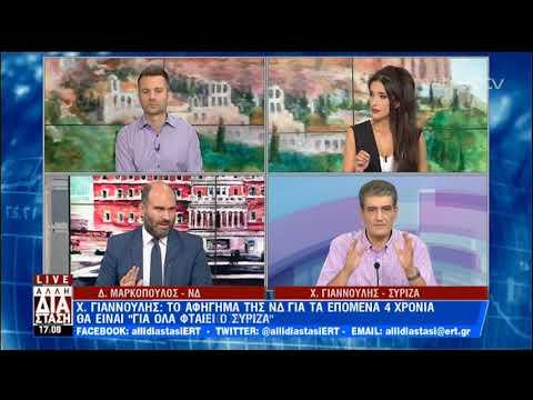 Το πολιτικό τραπέζι της Άλλης Διάστασης –  Δ.Μαρκόπουλος-Χ.Γιαννούλης | 16/07/2019 | ΕΡΤ