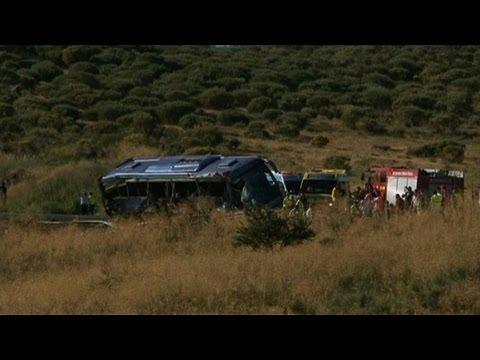 Espagne: neuf morts dans un accident de car