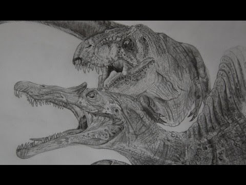 T-rex/Spinosaurus speed draw