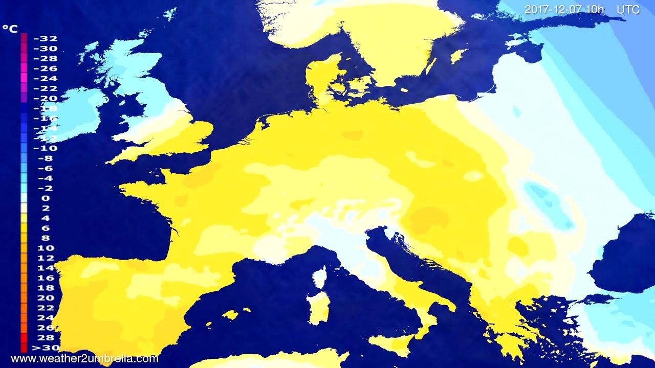Temperature forecast Europe 2017-12-05