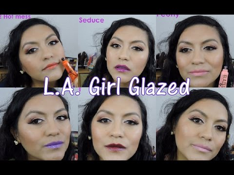 L.A. Girl Glazed Lip Paint (Reseña y Swatches)