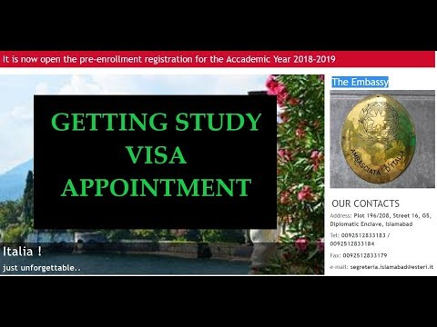 How to Get Appointment at the Italian Embassy