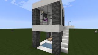 Como hacer una casa moderna para minecraft 6x5 l 2 for Casa moderna 6 mirote y blancana