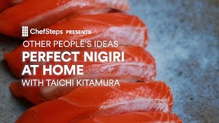 Seattle-based sushi guru Taichi Kitamura of Sushi Kappo Tamura walks you through the time-honored technique of making perfect nigiri. chfstps.co/2lCxwA5You're passionate about cooking. We're here to help.Become a member and be the first to learn about new recipes, special offers, and goings-on around the kitchen: http://chfstps.co/1paXXVdAnd while you're at it...Like us on Facebook: http://chfstps.co/1thBubbFollow us on Instagram: http://chfstps.co/1nDs8Fj Tweet with us: http://chfstps.co/1gMVbWAGet Pin-spired: http://chfstps.co/1koB9kIRead our blog: http://chfstps.co/1rhTgh0