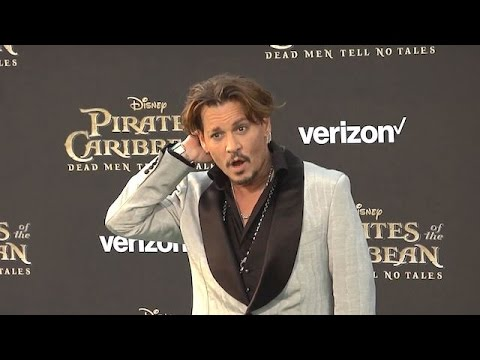 Johnny Depp Puts Financial Woes Behind Him At The Pirates Of The Caribbean Premiere