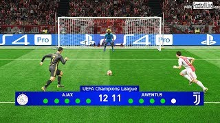 PES 2019 | AJAX vs JUVENTUS | UEFA Champions League (UCL) | Penalty Shootout | Gameplay PC
