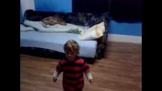 Baby got surprised when music stopped.