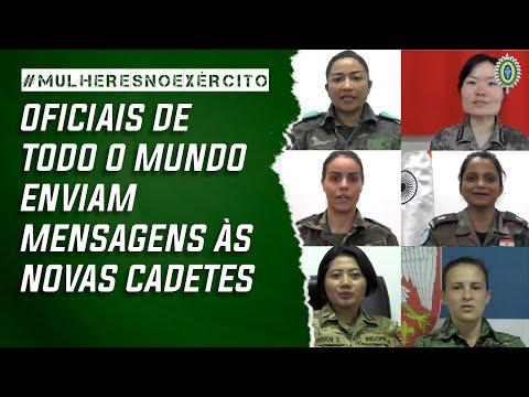 Oficiais de todo o mundo enviam mensagens às novas Cadetes