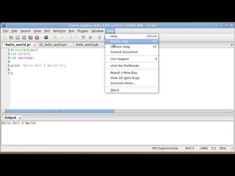 Context Sensitive Help with Padre, the Perl IDE