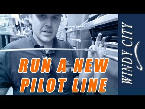 How to replace a pilot line on oven, repair pilot line tutorial DIY Windy City Restaurant Parts